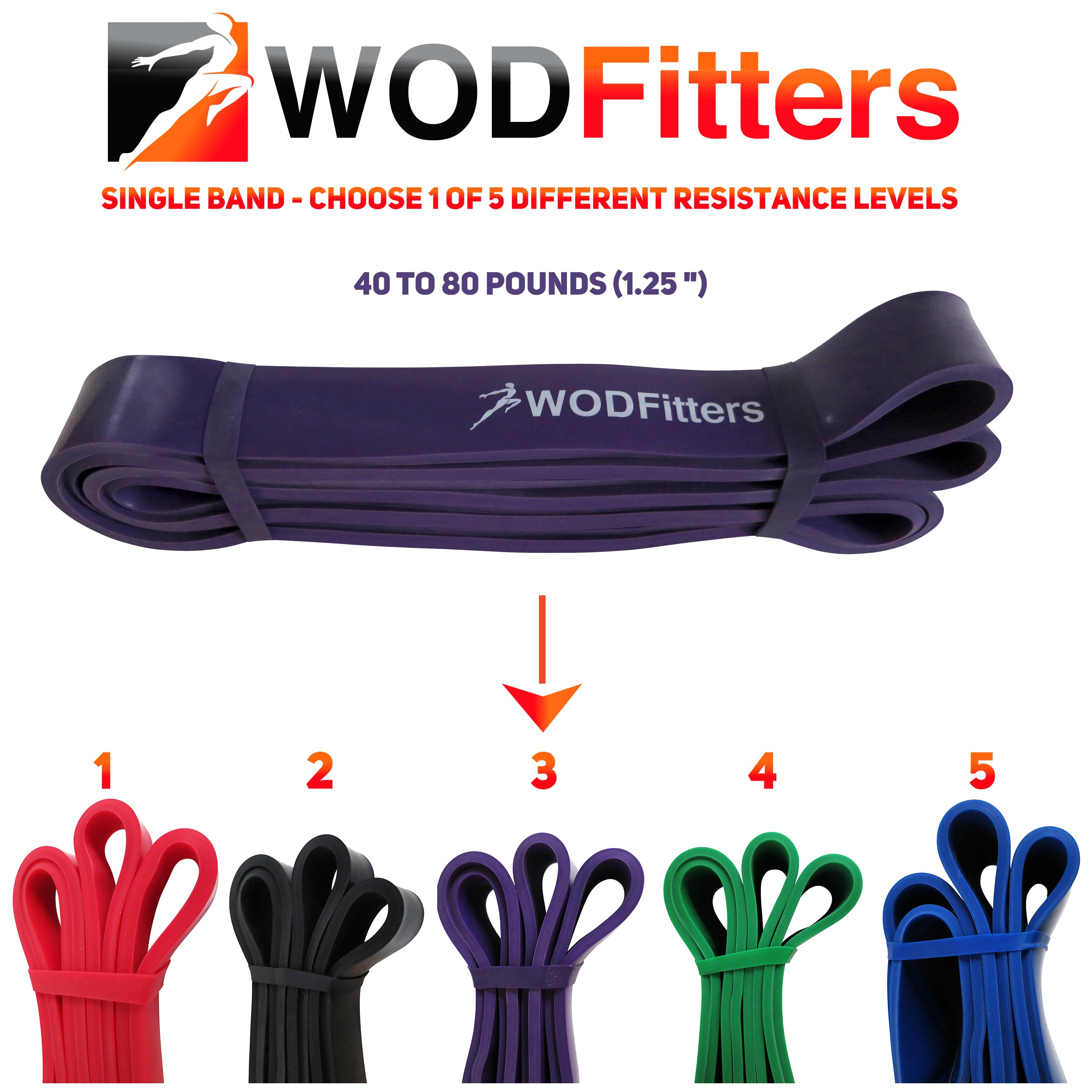 WODFitters Pull Up Band (Purple) Assisted Pull-up Resistance Band - Pull Up Assist Band Ideal for Assisted Pull Ups, Chin Ups or Power Lifting by WODFitters (Image #4)