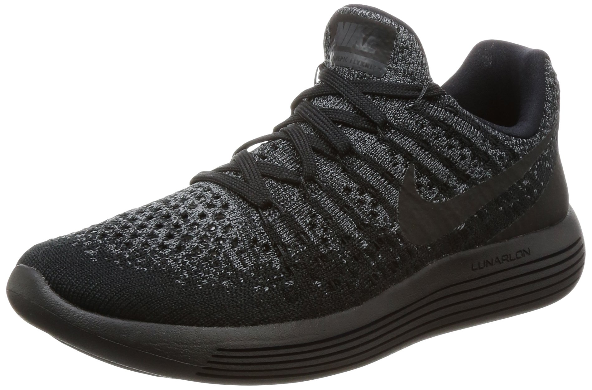 online store a23c7 ab3ed Galleon - Nike Womens LunarEpic Low Flyknit 2 Running Shoe Black Black-Dark  Grey-Racer Blue 5.5