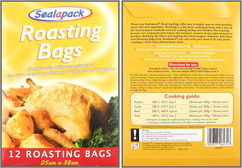 24 Grandes asar bolsas horno microondas cocinar pollo POLLO ...
