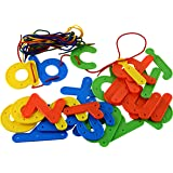 26 Large Threading Letters, Alphabet Lower Case With Laces
