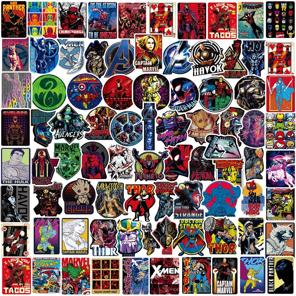 Stickers Calcos 100 un. Superheroes Origen U.S.A. (7RRCMM2X)