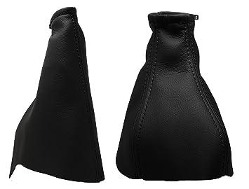 Para OPELASTRAG Modelos 1998 a 2004 Funda para Palanca de Cambio y Freno 100% Piel Color Negro: Amazon.es: Coche y moto