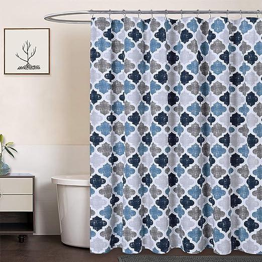 Amazon Com Caromio Extra Long Shower Curtain 96 Inch Geometric