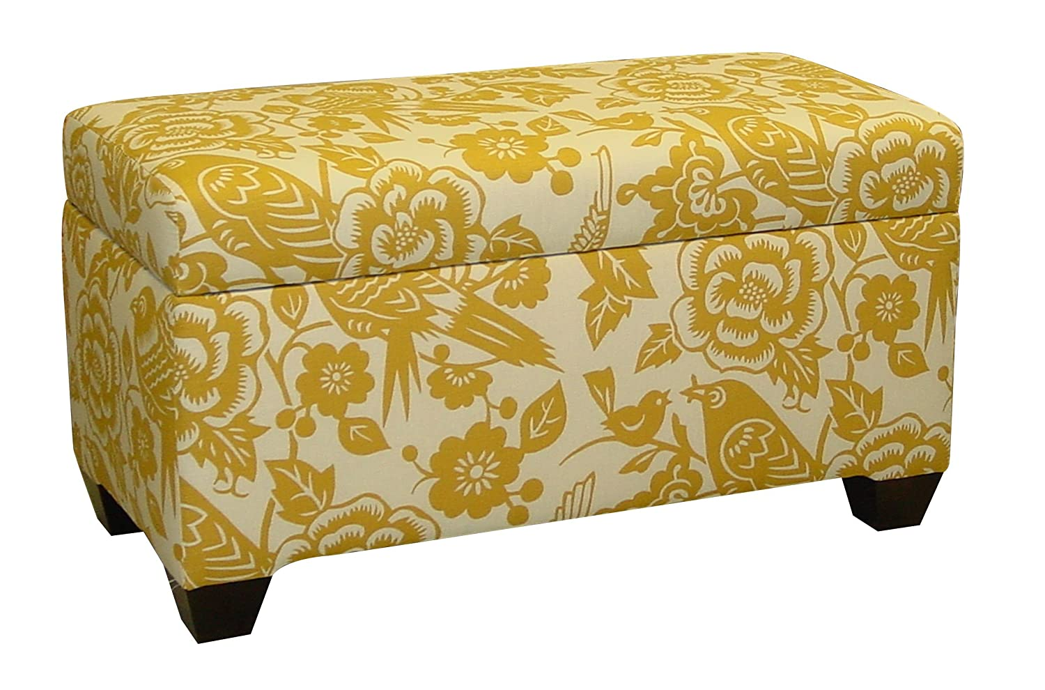 Amazon.com: Skyline Furniture Walnut Hill Storage Bench In Canary Earth  Fabric: Kitchen U0026 Dining