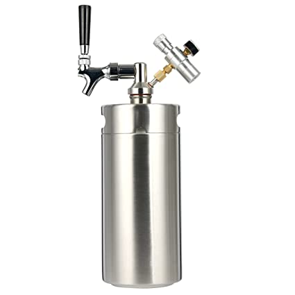 ae239e4d833 YaeBrew 128 Ounce Homebrew Keg System Kit for Home Brew Beer - with a Cool  Bank