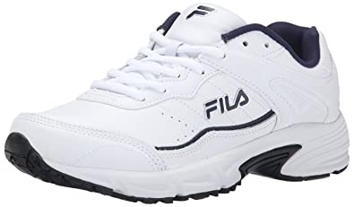40e91b9481007 Fila Men's Memory Sportland White/Fila Navy/Metallic Silver 9.5 EE US EE -