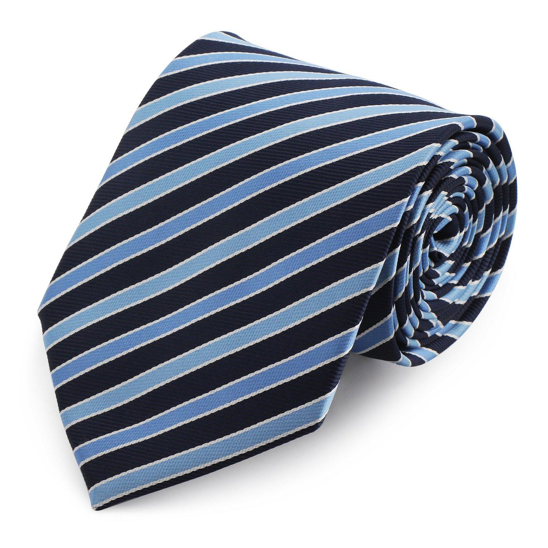 Segbeauty® Azul Claro y Marina Corbata a Rayas, Extra Largo 57 ...