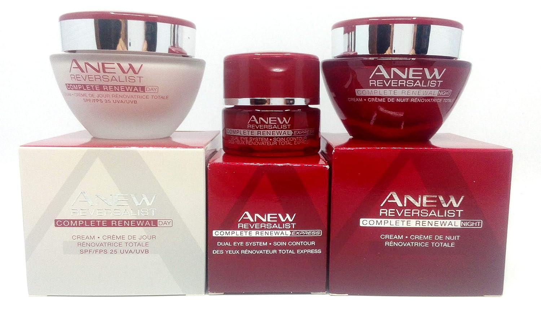 Avon Anew Reversalist Complete Renewal: Crème contour des yeux + Crème de Jour + Crème de nuit Ensemble.