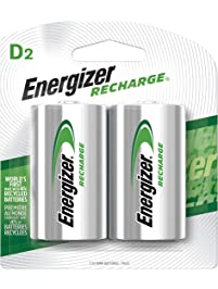 Energizer Rechargeable D Cell Batteries, NiMH D Battery (2 Count) NH95BP-2