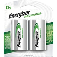 EnergizerRechargeable D Cell Batteries, NiMH D Battery (2 Count) NH95BP-2