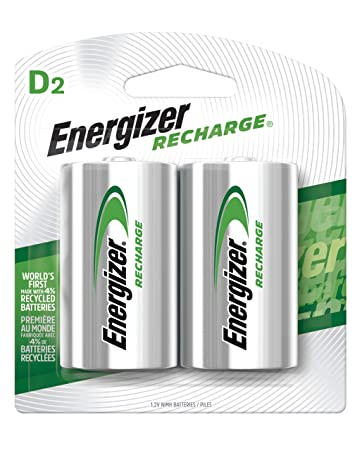 Amazon.com: Energizer pilas recargables, NH50BP-2, D, Verde ...