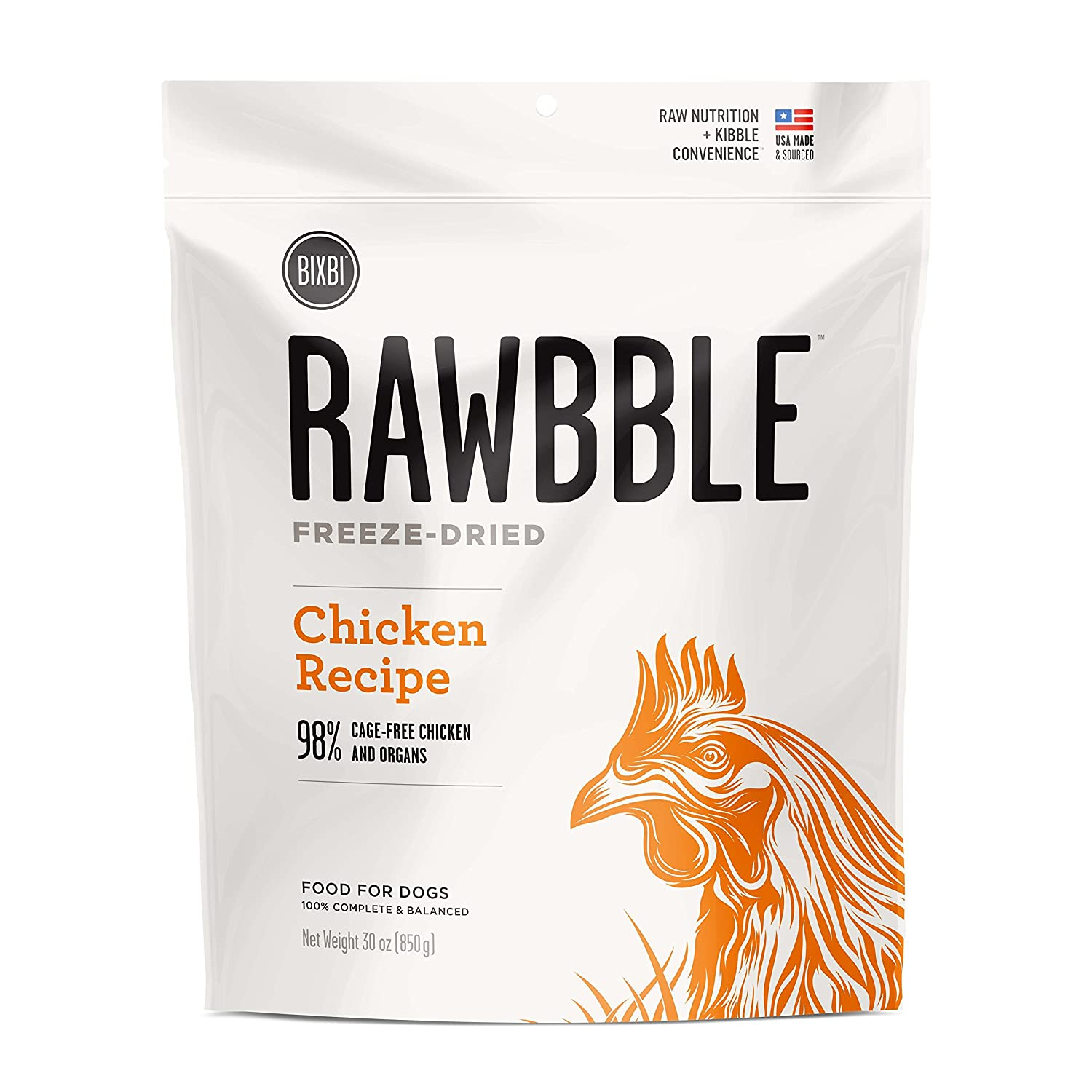 BIXBI Rawbble Chicken, 30-Ounce