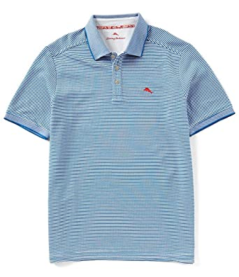 77cbf686 Tommy Bahama Emfielder Aloha Golf Polo Shirt (Color Bravo Blue, Size XL)