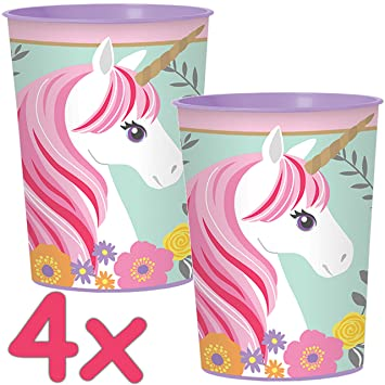 CARPETA® 4 Estable de vasos de plástico * Magical Unicorn ...