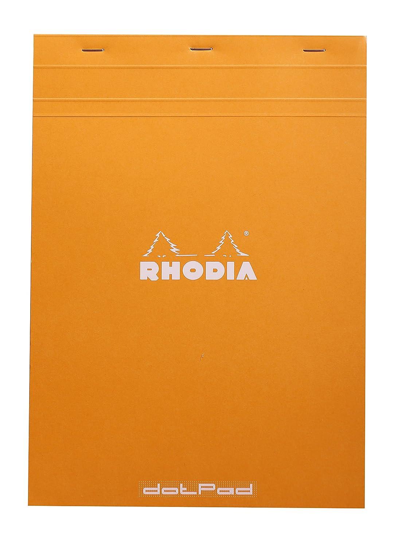 Clairefontaine 18558C - Cuaderno Dot pad, 80 hojas grapadas, A4, naranja, 1 unidad C Rhodia
