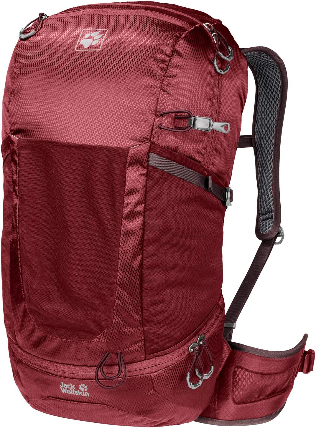 Jack Wolfskin Kingston 30L Lightweight Recycled Dual Chamber Backpack with Rain Cover