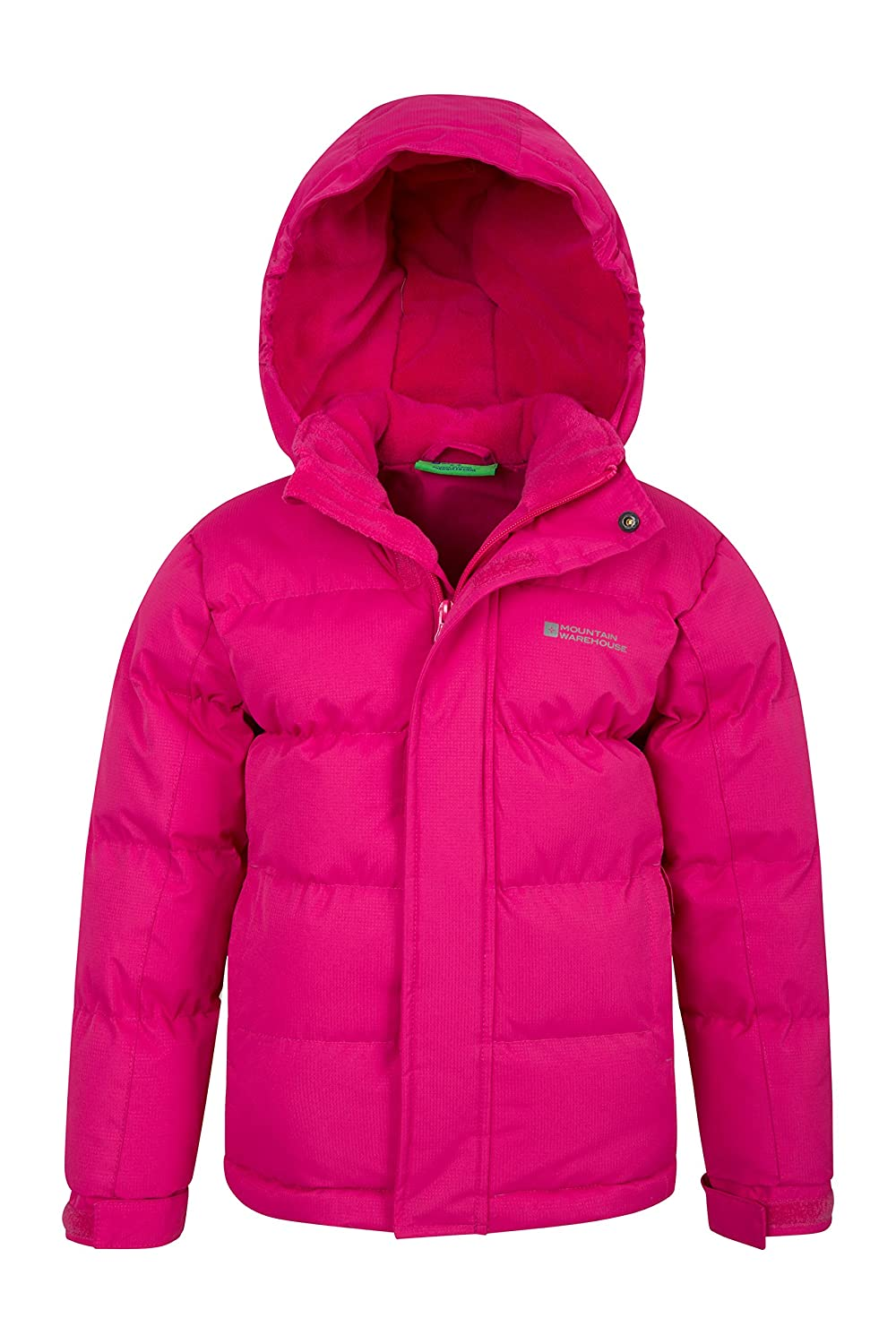 Ripstop Water Resistant Ideal Childrens Winter Coat Pockets Mountain Warehouse Snow Youth Padded Kids Jacket Adjustable Cuffs /& Hood Fleece Lined Collar Hood