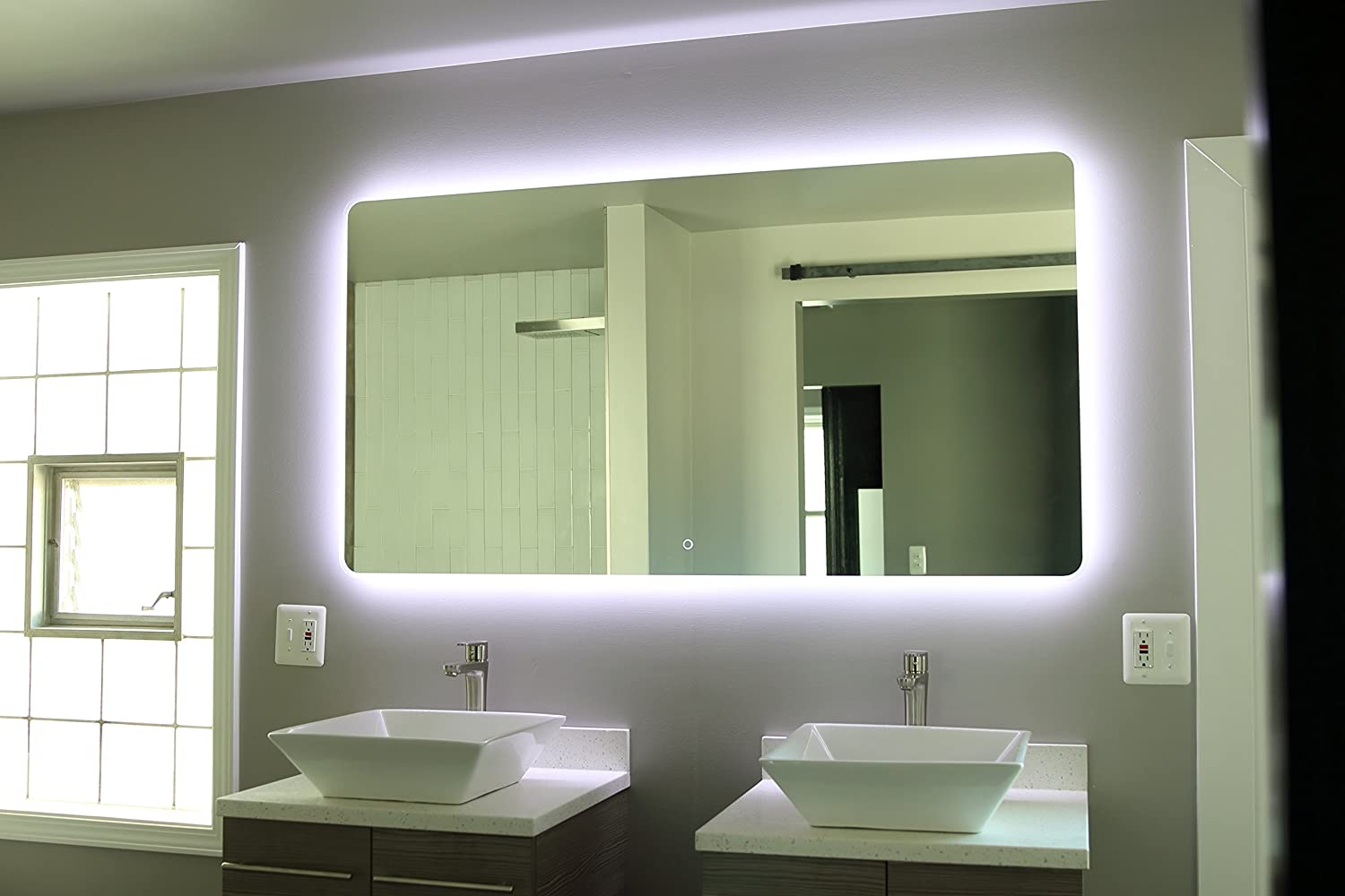 Bathroom sink and mirror - Amazon Com Windbay Backlit Led Light Bathroom Vanity Sink Mirror Illuminated Mirror 36 Home Kitchen