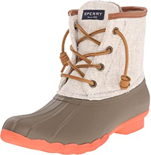 0ae1a4c3a0f Amazon.com  Sperry Women s Saltwater Canvas Rain Boot  Shoes
