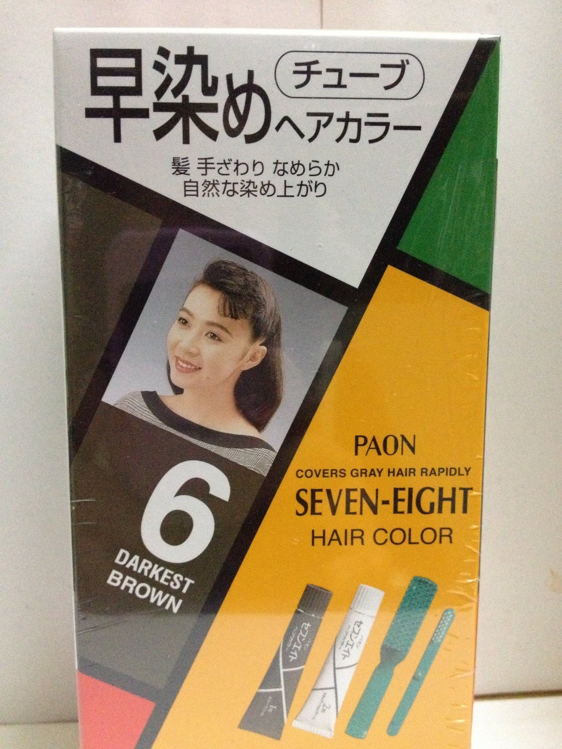 Amazon Paon Seven Eight Hair Color 6 Darkest Brown Chemical