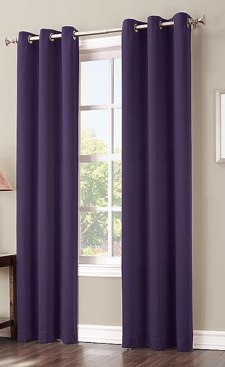 Amazon.com: Sun Zero Easton Blackout Energy Efficient Curtain ...