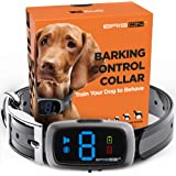 BRISON Dog Bark Collar - 3 Modes Beep Vibration - Rechargeable Waterproof Anti Bark Collar for Small Medium and Large…