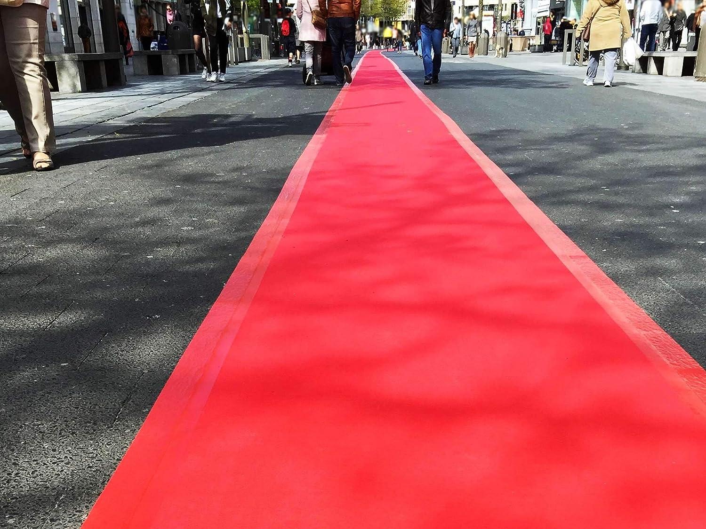 Eventteppich Rutschfest SALSA 2,00m x 1,50m Rot Hochzeitsl/äufer Hochzeitsteppich VIP-Teppich Schwer Entflammbarer Teppichl/äufer Empfangsteppich