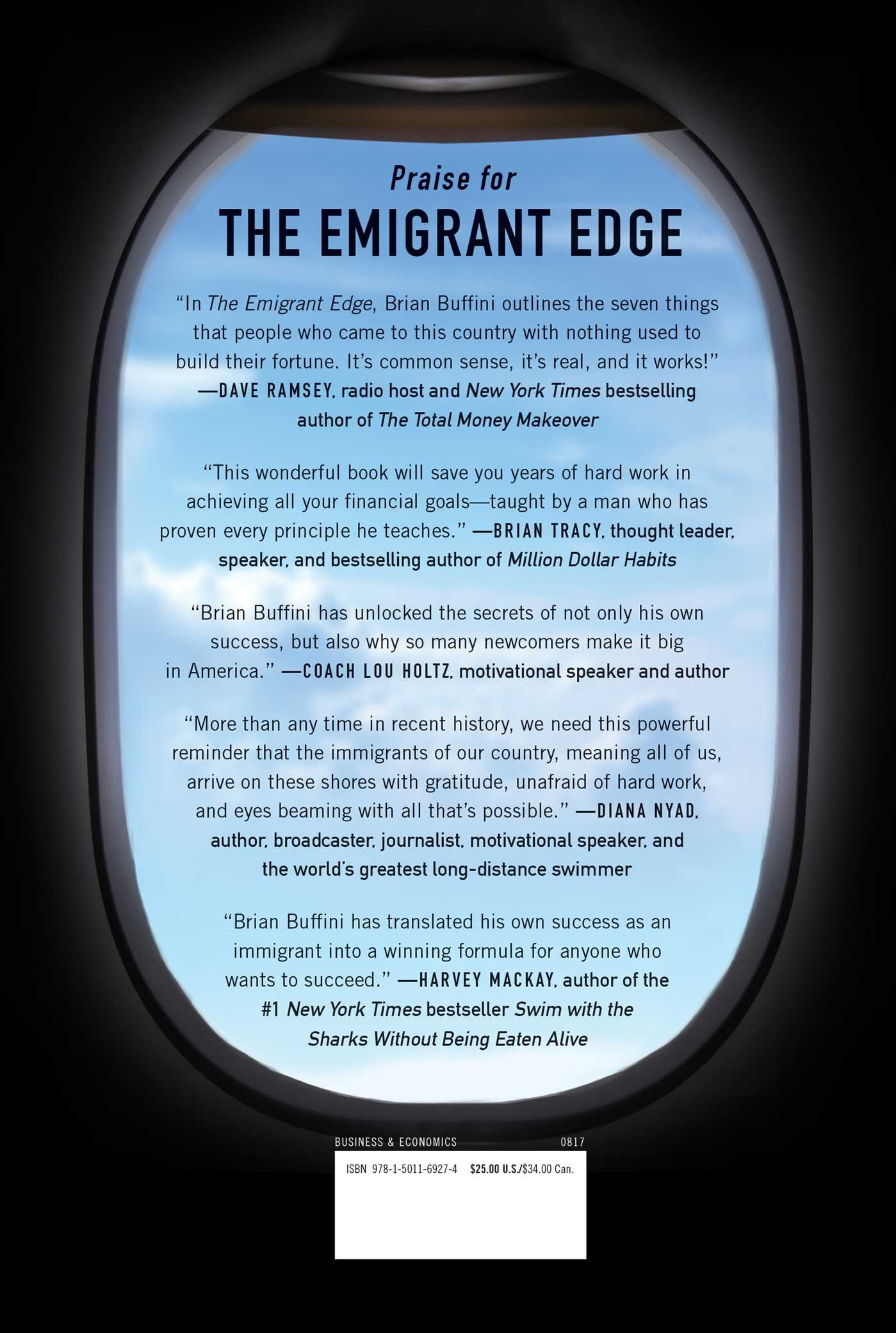 The Emigrant Edge How To Make It Big In America Brian Buffini 9781501169274  Com Books