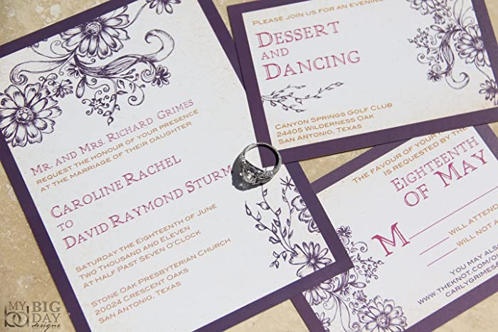 Amazon the enchanted garden wedding invitation sample set handmade the enchanted garden wedding invitation sample set filmwisefo