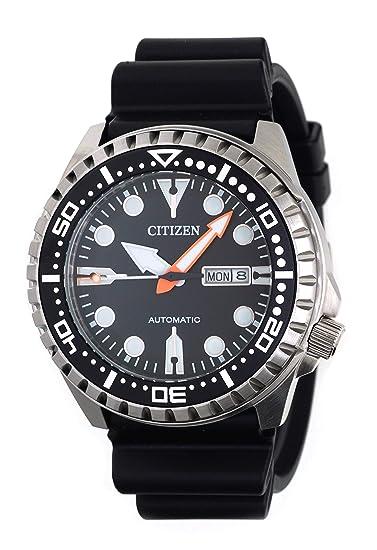 Citizen Hombre Analog Reloj Automático con Caucho Pulsera nh8380 - 15ee: Amazon.es: Relojes