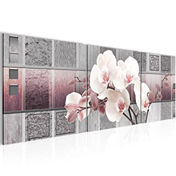Wandbild Blumen Orchidee Bilder 120 x 40 cm Vlies - Leinwand Bild ...