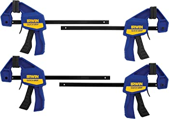 4-Pack Irwin Quick Grip One-Handed Mini Bar Clamp Tool