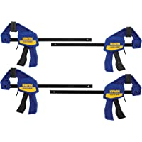 "IRWINQUICK-GRIPOne-Handed Mini Bar Clamp 4 Pack,  6"", 1964758"