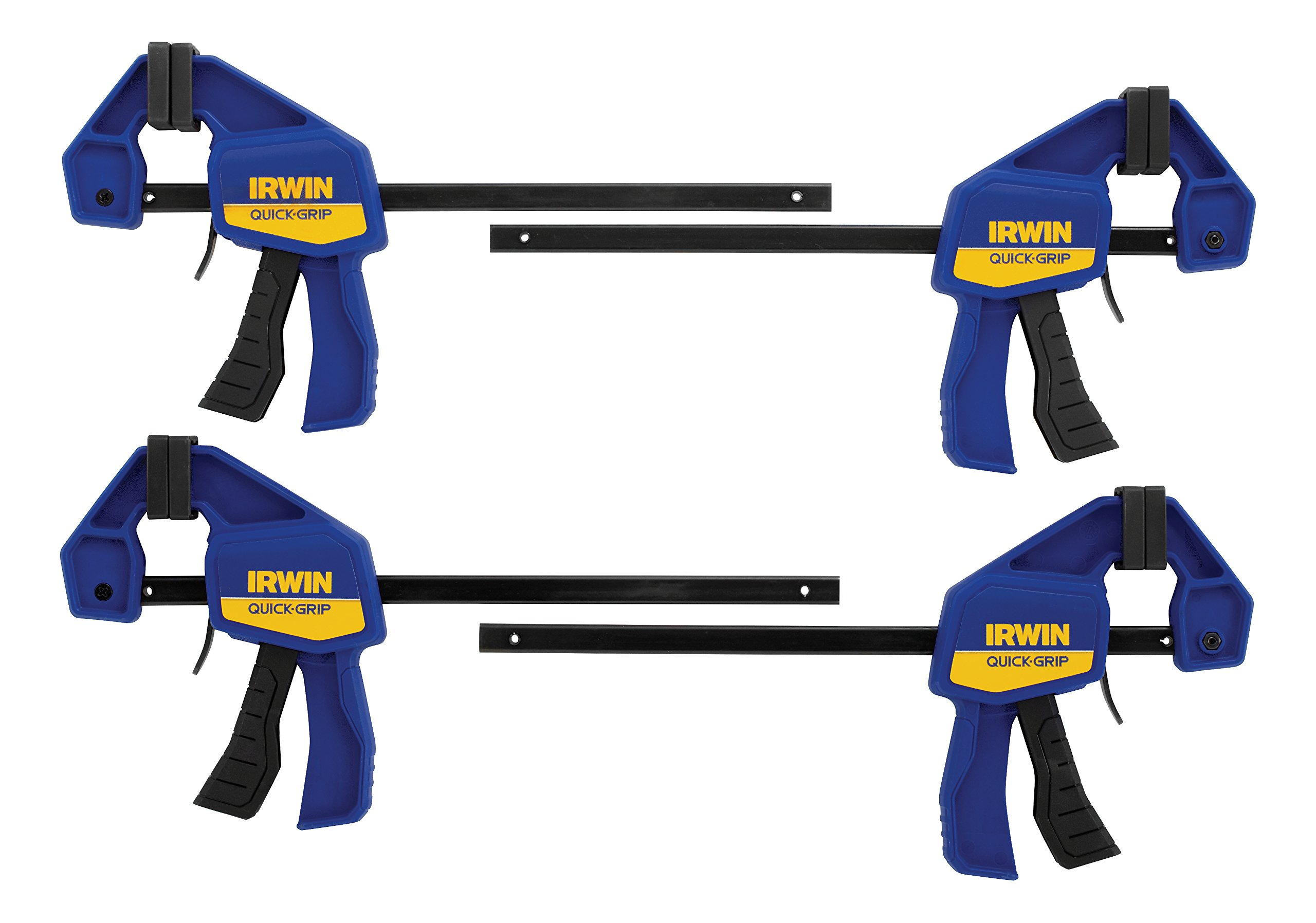 IRWIN QUICK-GRIP 1964758 One-Handed Mini Bar Clamp 4 Pack, 6''