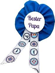 AnneSvea Orden - Bester Papa blau maritim Anker Geschenk Vatertag Babyshower Babyparty Bald Papa Dad to be