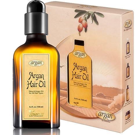 Vitamins - Sérum de aceite de argán marroquí – Dejar en antiencrespado seco dañado para todo