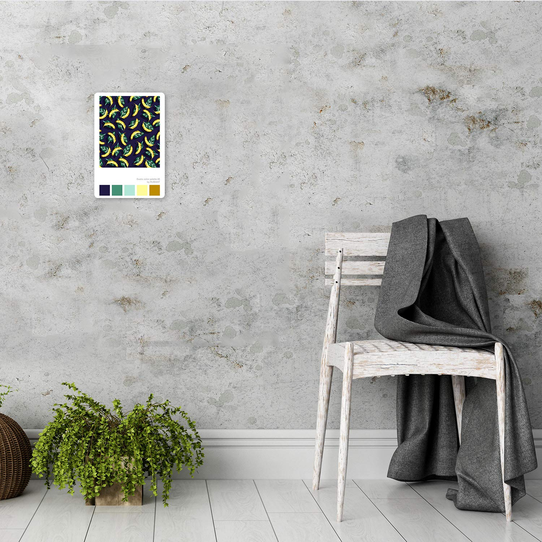 carowall CAROWALL.COM Poster Metal Abstracto Calidad fotografica ex/ótico Amarillo 20x30 cm