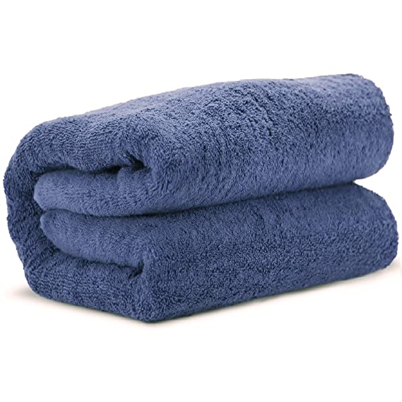 Crafted Work Luxury - Sábana de baño grande de algodón turco, ecológica, 650 gramos (tamaño de 40 x 80 pulgadas): Amazon.es: Hogar
