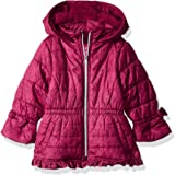 Pink Platinum Baby Girls Lace Puffer with Ruffle