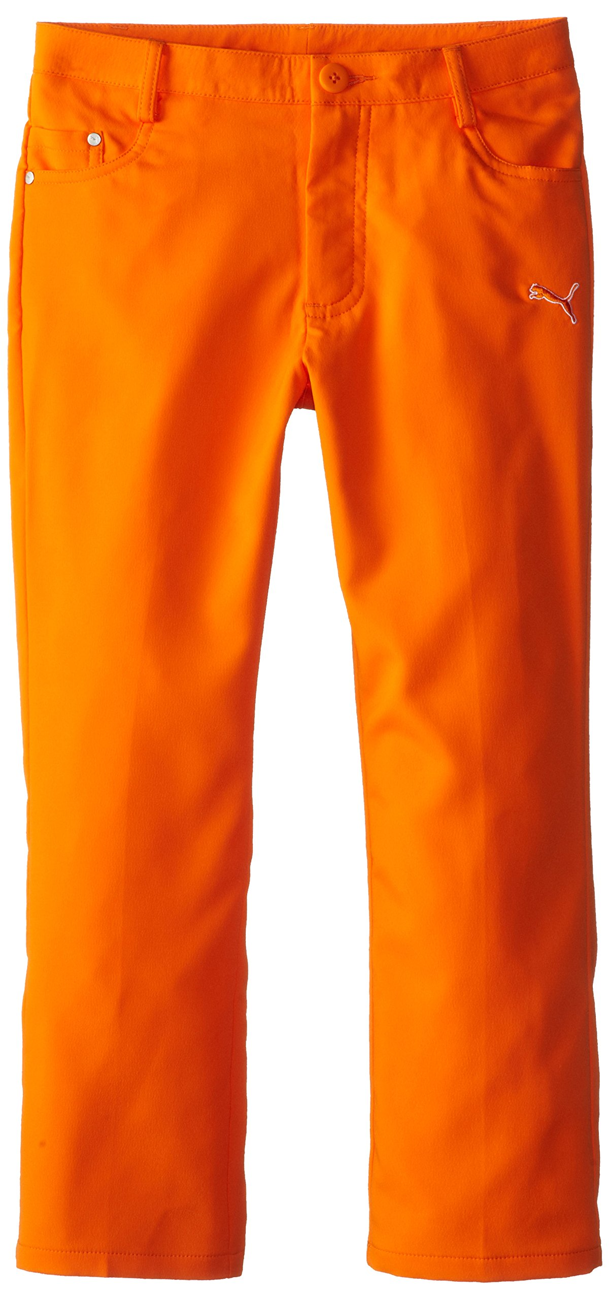 Puma Golf Boys Junior 5 Pocket Pant, Vibrant Orange, X-Large by PUMA