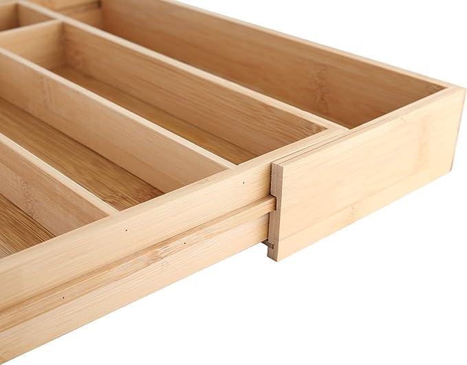 axentia Besteckkasten 48,5 x 37 x 5,3 cm Bambus Braun