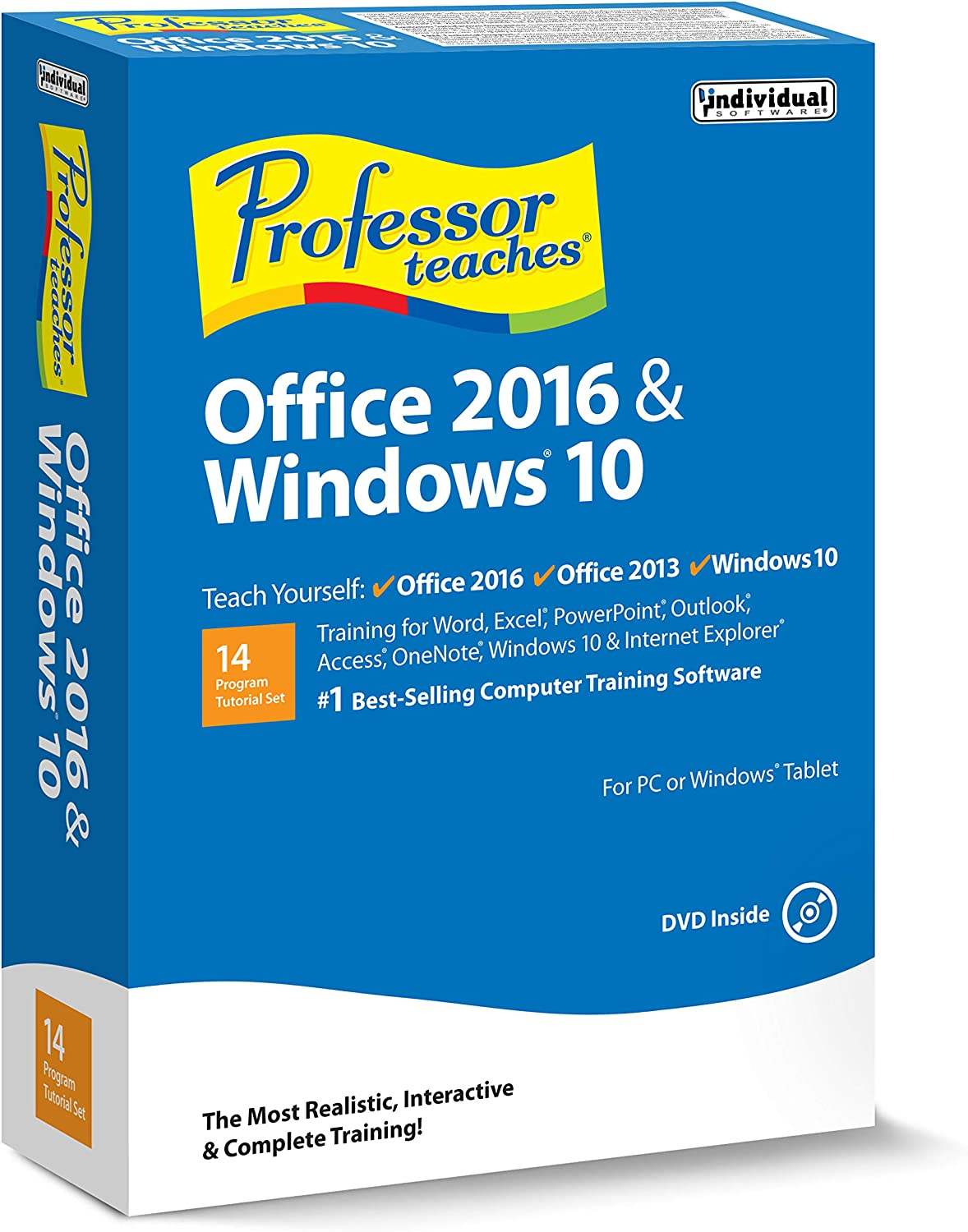 Individual Software PROFESSOR TEACHES OFFICE & WINDOWS 10