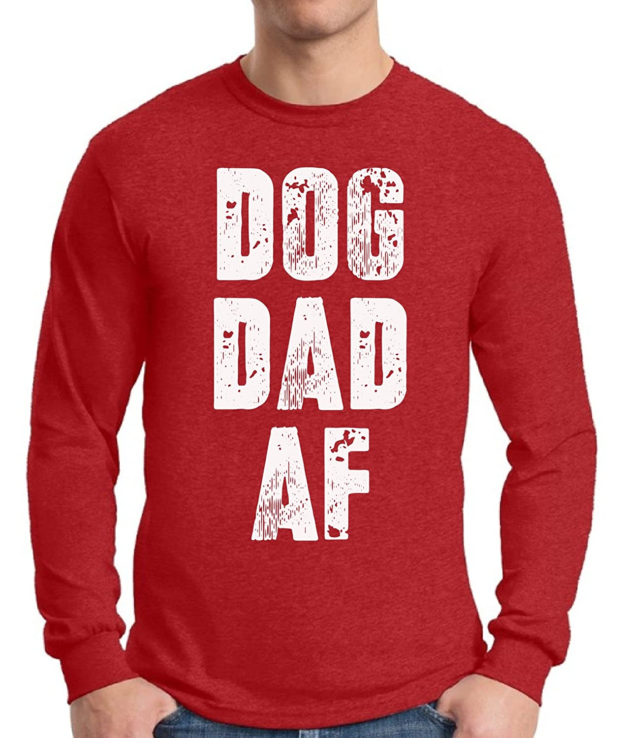 5d5cad2f1 Amazon.com: Pekatees Dog Dad AF Long Sleeve Shirt Dad Gifts for Dog Lovers Dog  Shirt for Dad: Clothing