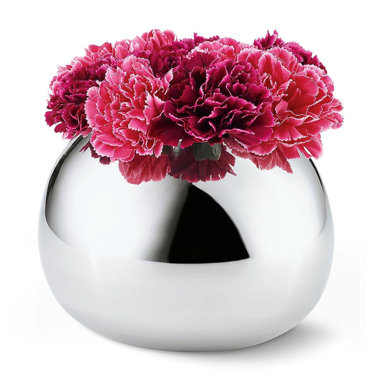 Philippi 202005 Bella Vase L, Edelstahl, Silber, 21 x 21 x 15 cm