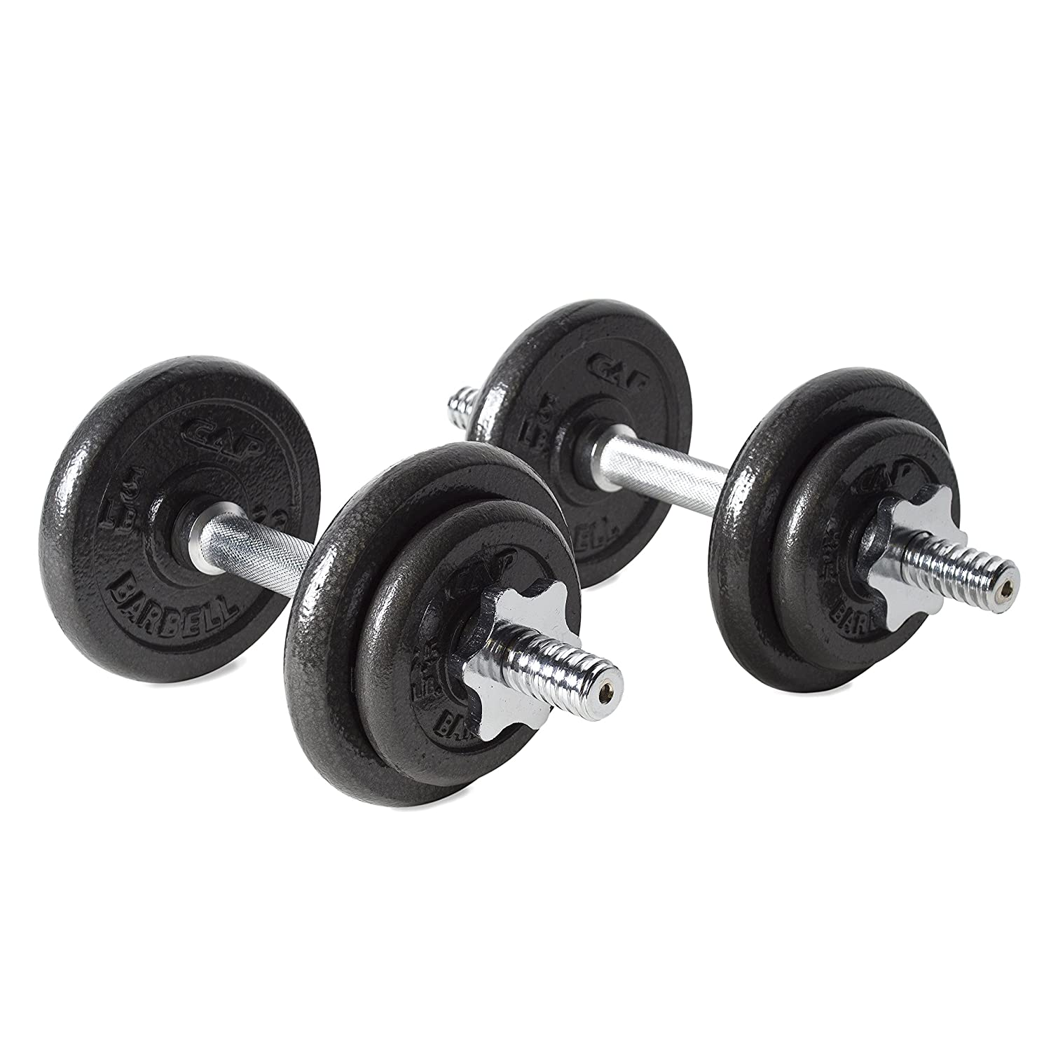 Amazon CAP Barbell 40 Pound Adjustable Dumbbell Set With Case Weights Sports Outdoors
