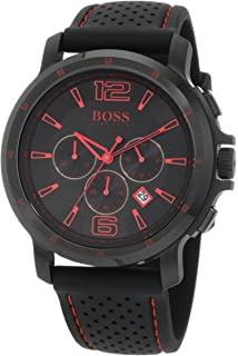Hugo Boss Black Collection Chronograph Black Dial Black Silicone Mens Watch 1512597