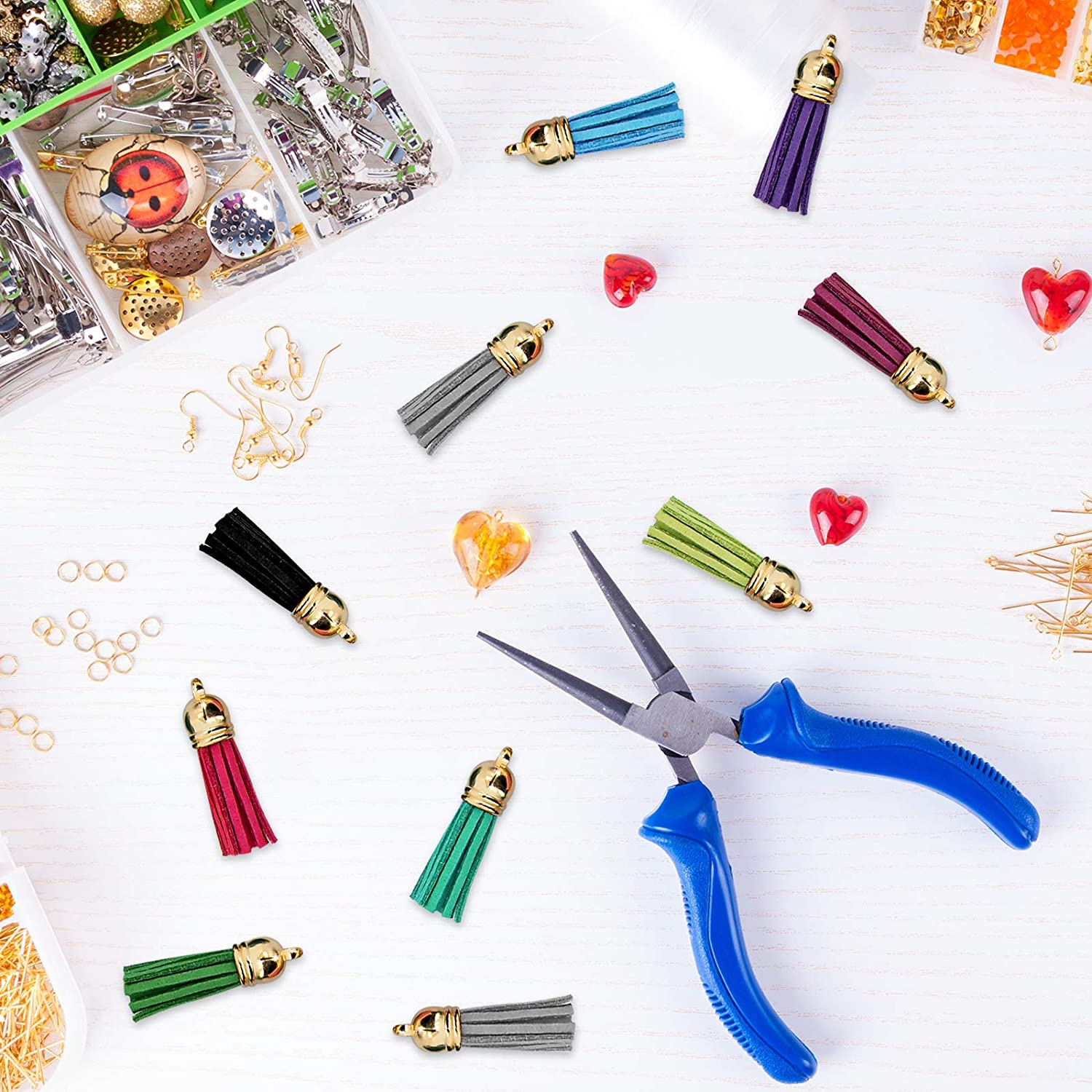 Gold and Silver Duufin 350 Pcs Key Chain Rings Keychain Tassels Set with 50 Pcs Craft Tassels 50 Pcs Keychain Hooks 50 Pcs Key Chain Rings 100 Pcs Jump Ring and 100 Pcs Screw Eye Pins for Crafts