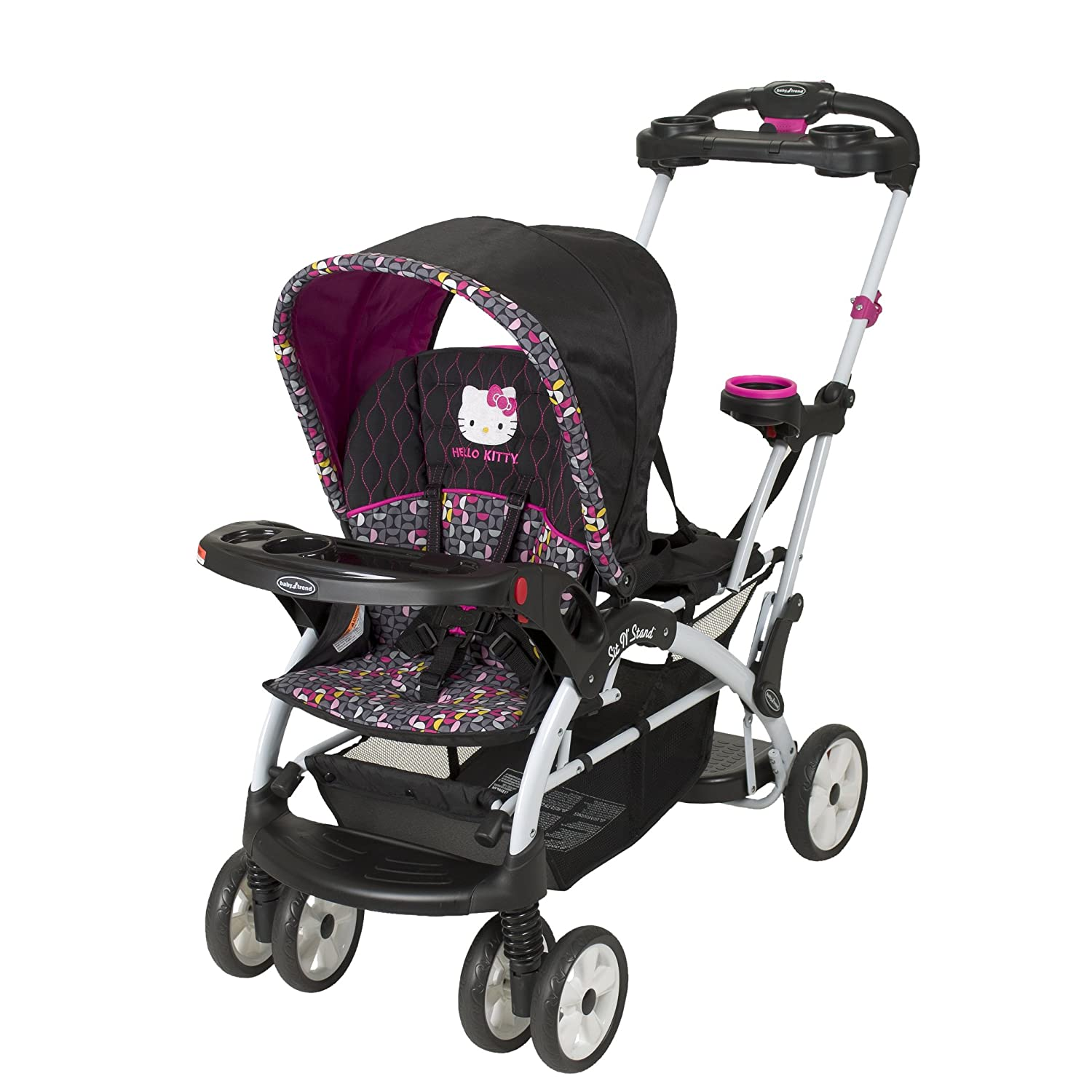 Baby Trend Hello Kitty Sit N Stand Ultra Stroller, Pinwheel SS66944