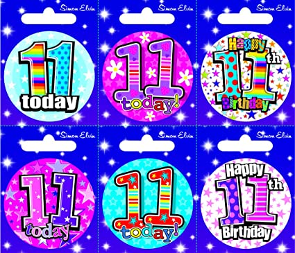 CREATIVE Insignia 6 Tarjeta del feliz cumpleaños 11 Edad ...