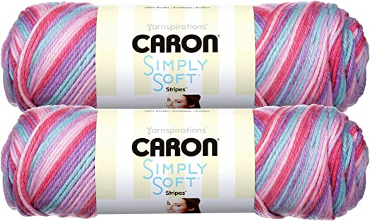 Times Square Caron Simply Soft 5 Oz Soft Stripes Yarn Colour Acrylic Yarn